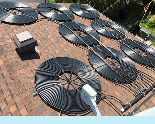 installation de chauffe piscine solaire residentiel ou. Black Bedroom Furniture Sets. Home Design Ideas